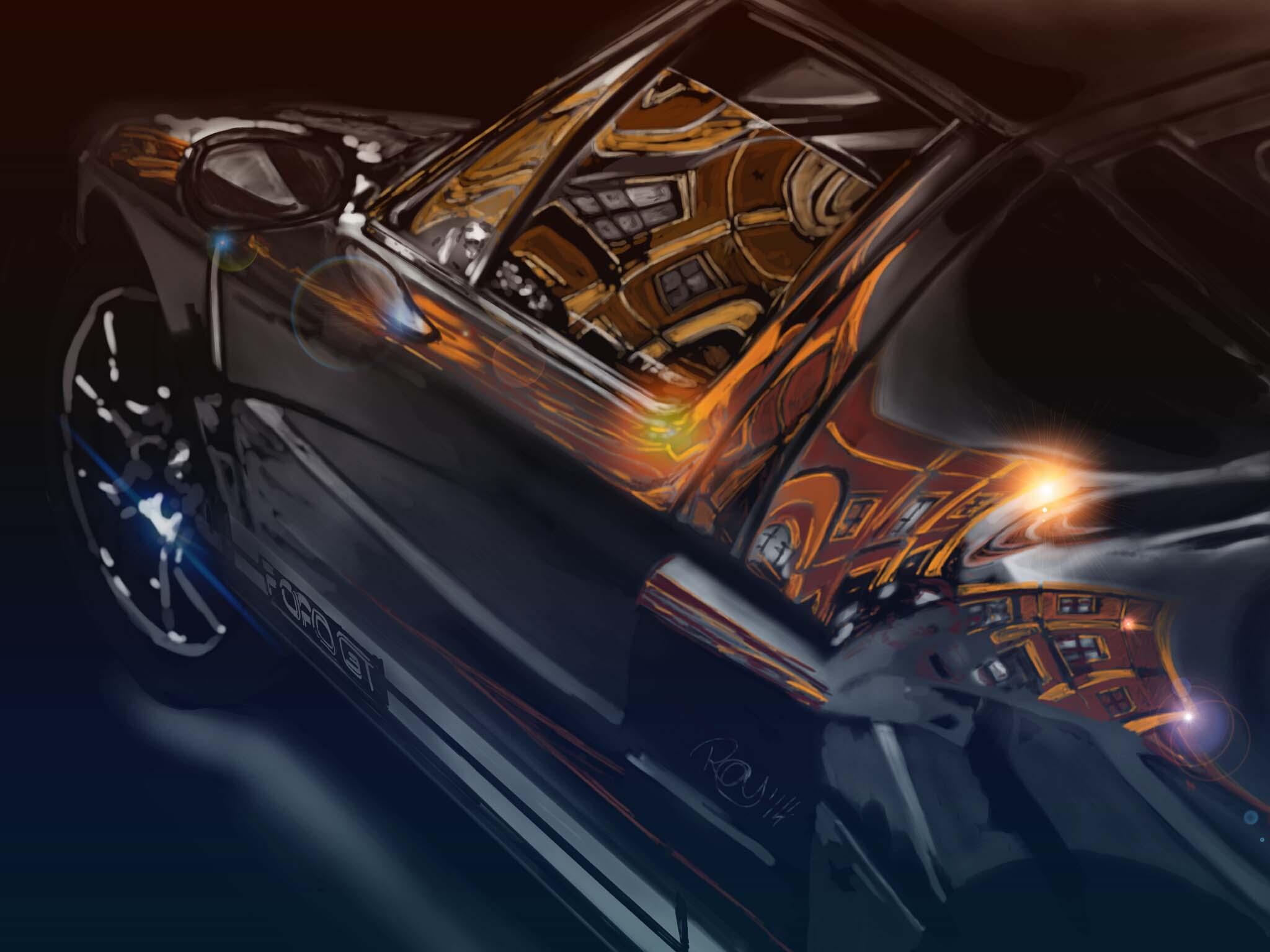 Ford Gt digital art